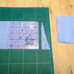 recycled shirt cutting squares