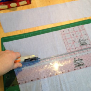 recycled shirt cutting strips